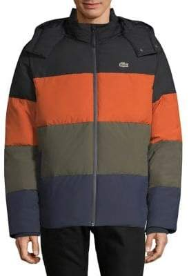 Lacoste Colourblock Hooded Jacket