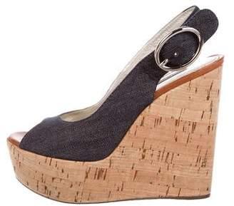 Dolce & Gabbana Denim Platform Wedges