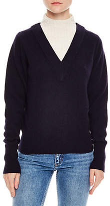 Sandro Windsor Tartan Jacques V-Neck Sweater