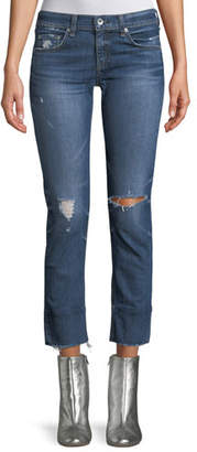 Rag & Bone Dre Distressed Straight-Leg Jeans