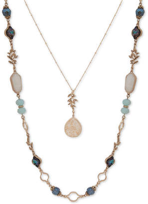 "lonna & lilly Gold-Tone Bead & Stone 28""/34"" 2-in-1 Necklace"