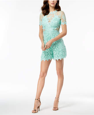 GUESS Lara Illusion Lace Romper
