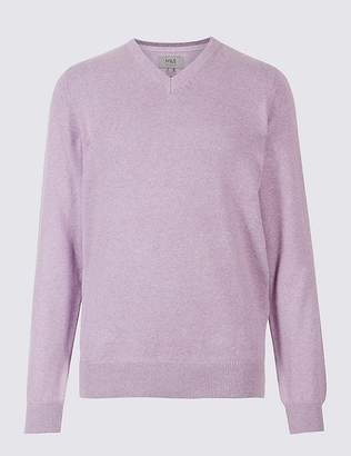 Marks and Spencer Pure Cotton V-Neck Jumper