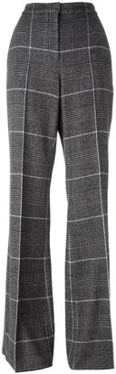 Calvin Klein checked flared trousers $1,570 thestylecure.com