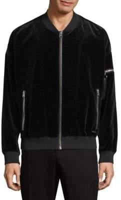 HUGO Bitrel Velvet Bomber Jacket