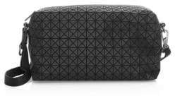 Bao Bao Issey Miyake Geometric Pattern Saddle Bag