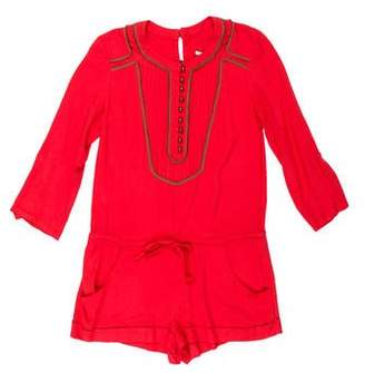 Twelfth Street By Cynthia Vincent Long Sleeve Drawstring Romper