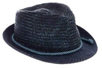 Etro Straw Fedora Hat