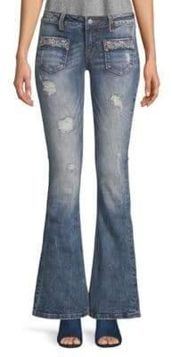 Miss Me Glitz Embellished Flared Jeans