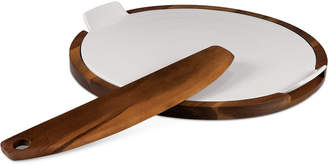 Picnic Time Heritage Collection by Fabio Viviani Acacia Wood Pizza Stone and Cutter