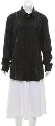 Paul Smith Eyelet Button-Up Top