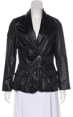 Lanvin Embellished-Accented Long Sleeve Jacket