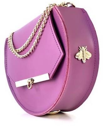 Angela Valentine Handbags Loel Mini Military Bee Bag Clutch In Lavender