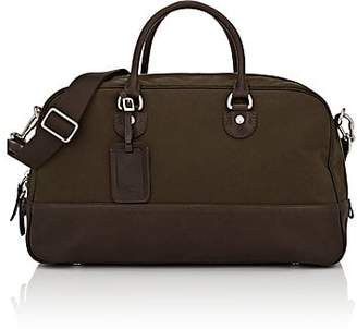 Fontana Milano 1915 Men's Leather-Trimmed Duffel Bag - Olive