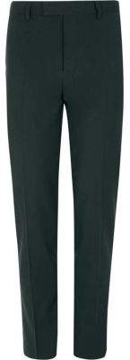 River Island Dark green stretch skinny fit suit pants