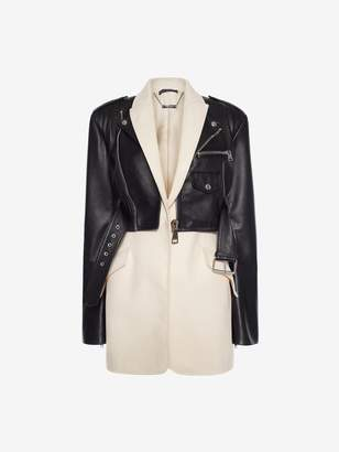 Alexander McQueen Leather Biker Suit Jacket