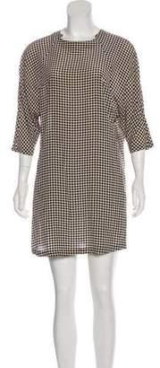 Dries Van Noten Polka-Dot Silk Shift Dress