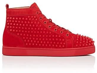 Christian Louboutin Men's Louis Flat Suede Sneakers