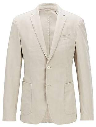 5a48bac74 HUGO BOSS Slim-fit jacket in a linen-cotton blend