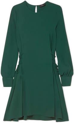 Theory Lace-up Crepe Midi Dress - Dark green