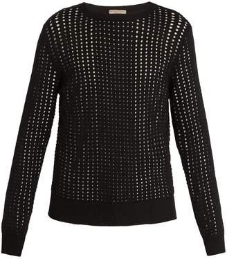 Bottega Veneta Crew-neck eyelet-knit silk sweater