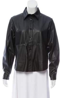 Barena Venezia Vegan Leather Button-Up Jacket