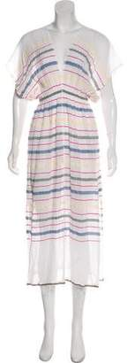 Lemlem Striped Midi Dress