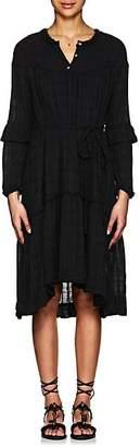 Raquel Allegra Women's Geometric Cotton Shirtdress - Black