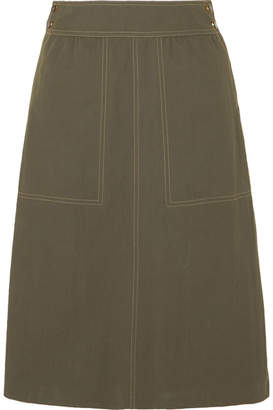 Vanessa Seward Finistere Canvas Skirt - Army green