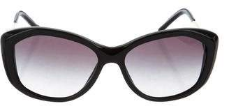 Burberry Leather-Trimmed Gradient Sunglasses