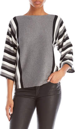 Cable & Gauge Striped Dolman Sleeve Top
