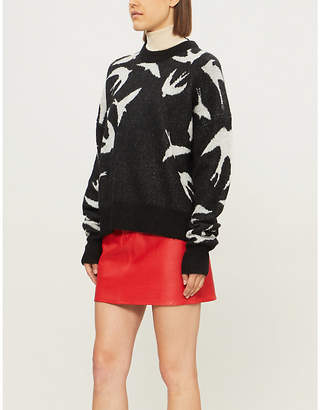 McQ Swallow-intarsia knitted jumper