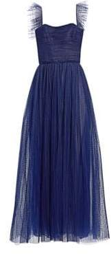 Monique Lhuillier Sleeveless Tulle Gown