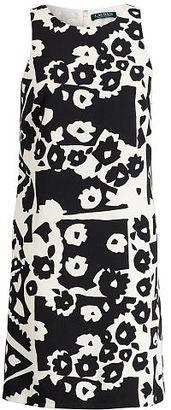 Ralph Lauren Lauren Floral-Print Crepe Dress $155 thestylecure.com