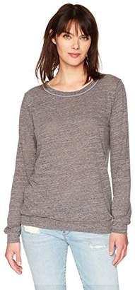 Michael Stars Women's Chelsea Triblend Long Sleeve Sweatshirt
