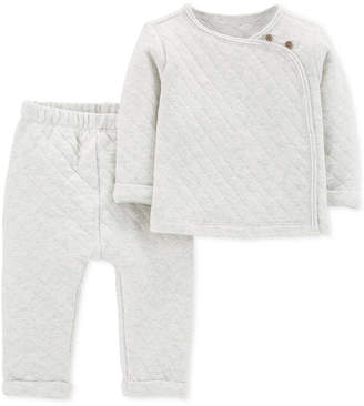 Carter's Baby Boys & Girls 2-Pc. Quilted Top & Pants Set