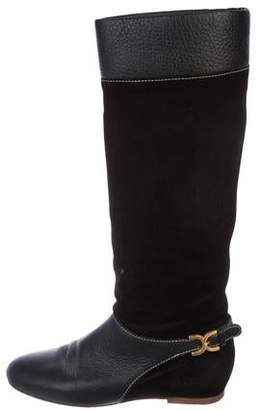 Chloé Knee-High Suede Boots