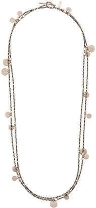 Brunello Cucinelli spinel disk charm necklace