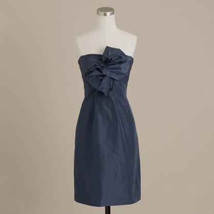 Bow monde dress in silk taffeta