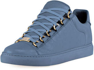 Balenciaga Crinkled Leather Lace-Up Sneakers