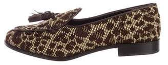 Trademark Woven Round-Toe Loafers