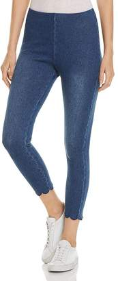 Lysse Scalloped Crop Denim Leggings