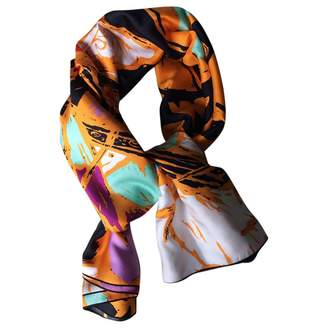 Balenciaga Orange Silk Scarves