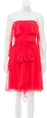 Halston Silk Strapless Dress w/ Tags