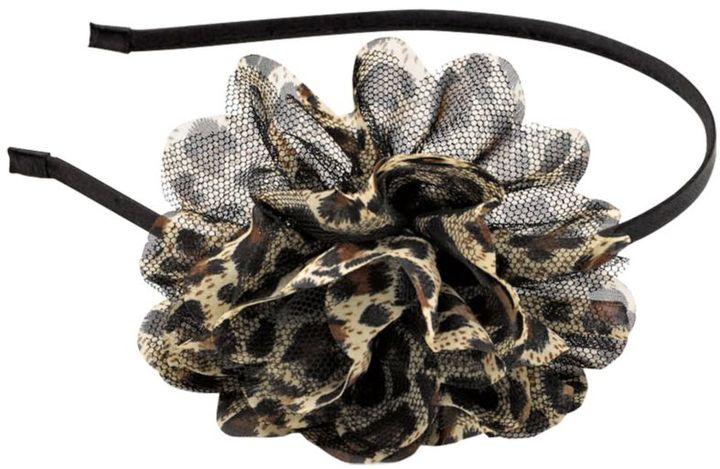 Karina Brown Animal Print Flower Headband