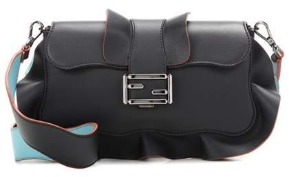 Fendi Baguette ruffled leather shoulder bag