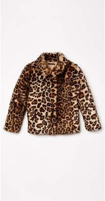 J.Mclaughlin Girls' Pella Faux Fur Coat in Cheetah