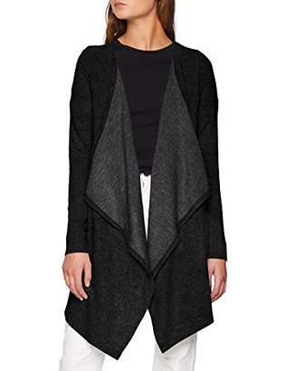 Vero Moda Women's Vmtammi L/s Cardigan Noos Dark Grey Melange, (Size: Large)