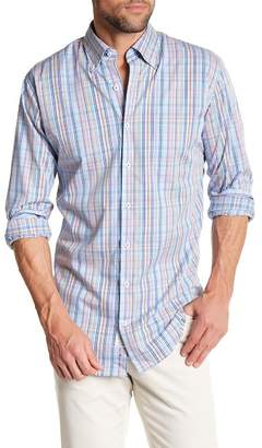 Peter Millar Crown Finish Pin Plaid Regular Fit Dress Shirt $145 thestylecure.com