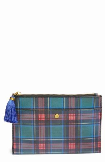 J. CREW J.Crew Medium Plaid Print Pouch